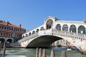 The most famous bridge in Venice