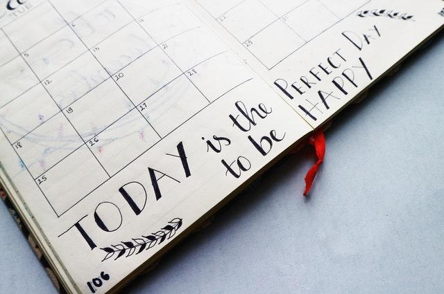 clutter free calendar